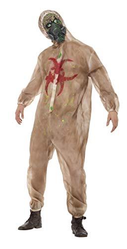 Anzug Zombie Kostüm - Smiffys Herren Zombie Biogefahr Kostüm, Ganzkörper Anzug und Maske, Größe: L, 48217