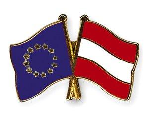 Yantec Freundschaftspin Europa - Österreich Pin Anstecknadel Doppelflaggenpin