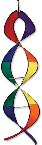 Premier Kites Premier Kites 22451 Wind Garden DNA Helix Twister / Spinner, Rainbow, 12 inches