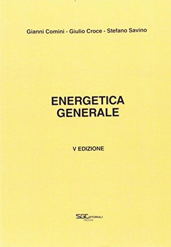 Energetica generale di Gianni Comini