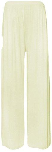 Damen Hose, groß, weit geschnitten, tiefsitzend, Gr. 40�?8 Weiß - Crème