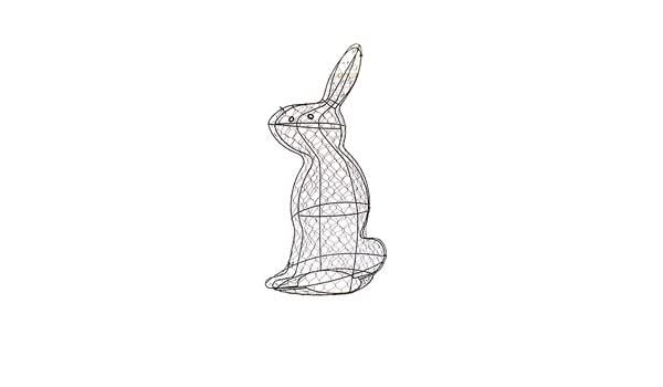 Large Rabbit 90 x 37 x 65cms Topiary Wire Frame: Amazon.co.uk ...