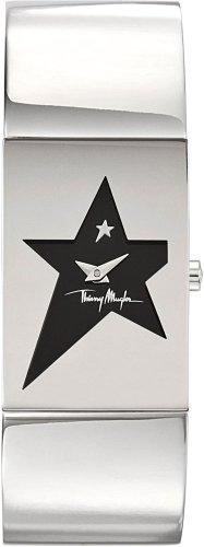 Thierry Mugler - 4706504 - Montre Femme - Quartz Analogique - Cadran Argent - Bracelet Acier Inoxydable Argent