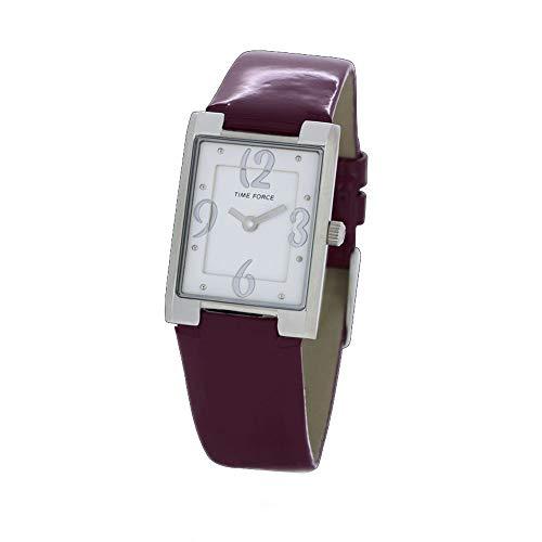Time Force Reloj Analógico para Mujer de Cuarzo con Correa en Cuero TF4066L05