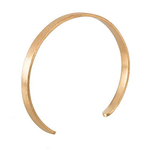 Pernille Corydon Armreif Gold Damen Alliance schmal offen variable Größe 925er Sterling Silber vergoldet - B473g
