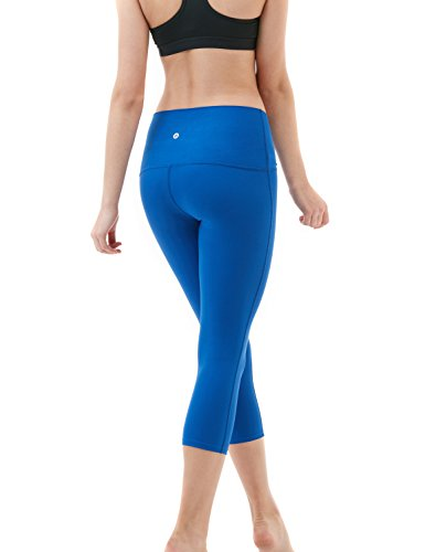 Tesla Capri, yoga 53,3cm high-waist controllo pancia pantaloni W tasca FYP32 Z-TM-FYP32-BLU