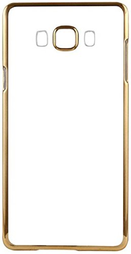Amazing Deal Samsung Galaxy J7 (2016) Electroplated Gold Edge Clear Soft Transparent Back Case Cover