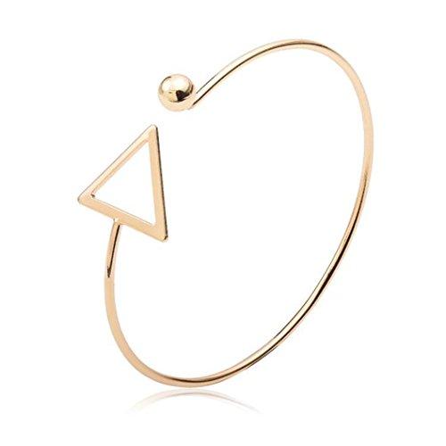 Sunnywill Hohle Dreieck Arm Manschette Armbinde Armband Armreif Armband trendigen Schmuck für Frauen Mädchen Damen (Gold)