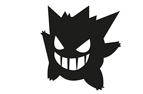 Price comparison product image Gengar Pokemon 15x15cm Aufkleber Sticker Decal für alle glatten Oberflächen. Auto, Wände, Fenster, Tür uvm.