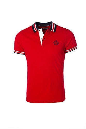 Karl´s People Herren Poloshirt Kurzarm K-129, Red, 3XL