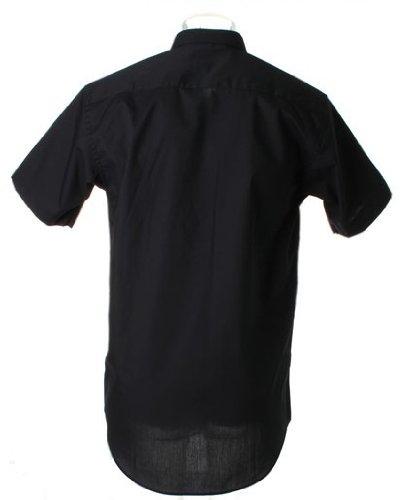 Kustom kit en popeline kK102–chemise à manches courtes Noir - Noir
