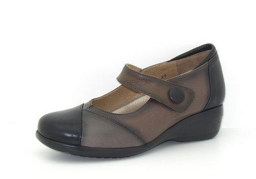 Piesanto Modèle 3986 - Confortable chaussures en cuir pour femmes Noir