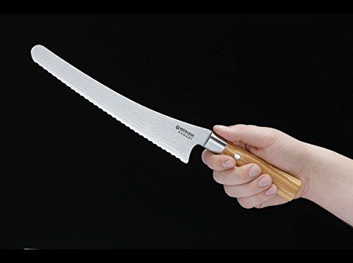 Böker Damast Olive Brotmesser 130433DAM