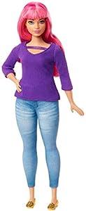 Barbie - Dreamhouse Adventure Daisy Muñeca Curvy con Pelo Rosa y Accesorios (Mattel GHR59)