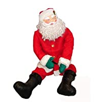 Lot / Set of 3 pieces - motorized father christmas mannequin sitting musical and interior 1.50m