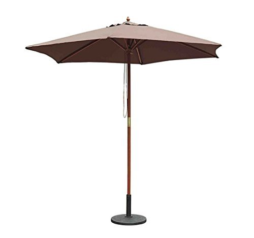 Outsunny - ombrellone in legno ombrello parasole da esterno da giardino Φ250 cm marrone