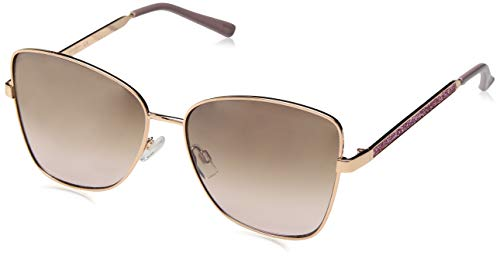 Jessica Simpson Damen J5693 RGDRS Iridium Cateye Sonnenbrille Gold Rose 60 mm
