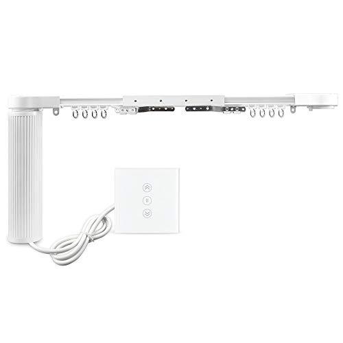 Automatische Vorhang-System Vorhang Spuren motorisierten Rutsch-Schatten-Motor mit WiFi-Jalousien Schalter kompatibel Alexa Echo Sprachsteuerung von Google Home angepasste App-Steuerung(3.2M)