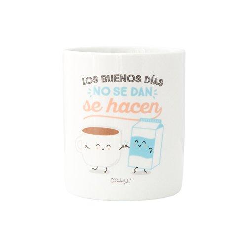 Mr. Wonderful Tazalos Buenos Días No Se Dan Se Hacen, Cerámica, Blan