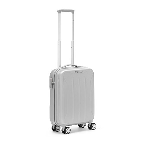 R Roncato, FLIGHT - Trolley Cabina in ABS 100%, Argento