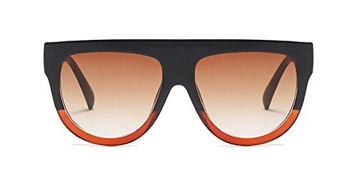 Xfentech occhiali da sole retro bicolore telaio del pc uv400 non-polarizzati per unisex uomo e donna (stile 10)