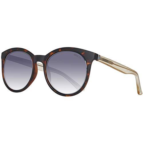 Guess Damen GU 7466 Sonnenbrille, Dark Havana/Smoke MIRROR, 53
