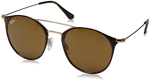 Ray-Ban RAYBAN Unisex-Erwachsene Sonnenbrille 0rb3546 9074 52 Copper On Top Havana/Brown