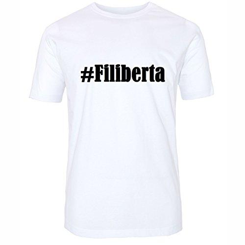 T-Shirt #Filiberta Hashtag Raute für Damen Herren und Kinder ... in den Farben Schwarz und Weiss Weiß