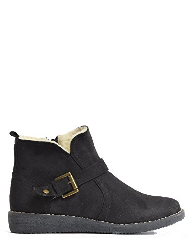 Cushion Walk Ladies Ankle Boot Black 3