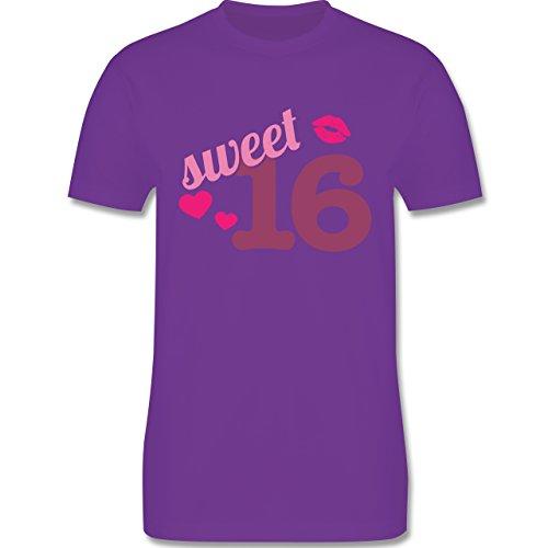 Geburtstag - Sweet 16 - Herren Premium T-Shirt Lila