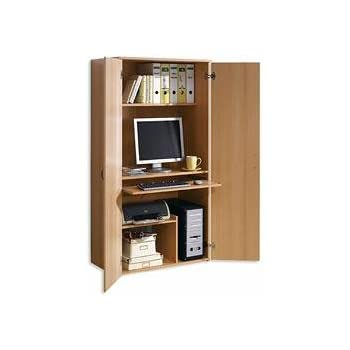 pc schrank computerschrank b roschrank buche dekor 441 k che haushalt. Black Bedroom Furniture Sets. Home Design Ideas