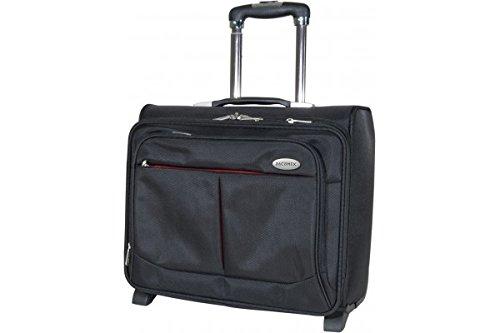 Dacomex sac ordinateur Trolley en nylon 39,6 cm (15,6 pouces) noir/rouge