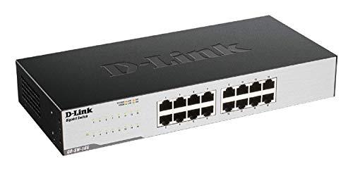 D-Link GO-SW-16G Gigabit Easy Ethernet Gigabit  Desktop Switch, Schwarz ( Design kann variieren )