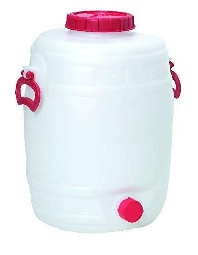 Bouchonnerie Jocondienne SOT30 Tonnelet 30L H: 470 Mm Diam 350 Mm, Plastique, Blanc, 35 x 35 x 48,5 cm
