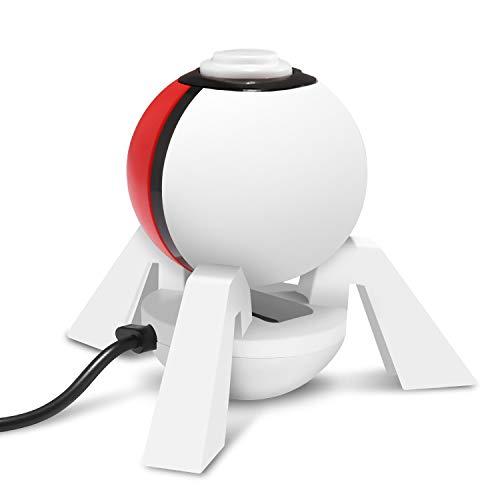 IDESION Support Station de Chargement pour Nintendo Pokeball Plus avec Câble USB Type-C Chargeur pour Contrôleur du Nintendo Switch Poké Ball Plus