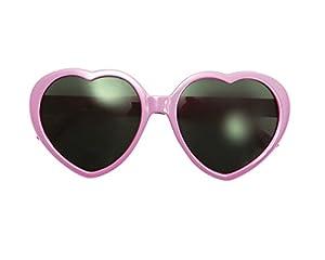 My Other Me - Gafas en forma de corazón, talla única, color rosa (Viving Costumes MOM01568)