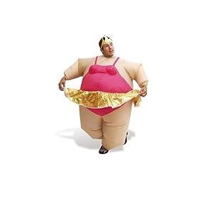 AirSuits Aufblasbares Kostüm Fatsuit Ballerina Fasching Karneval