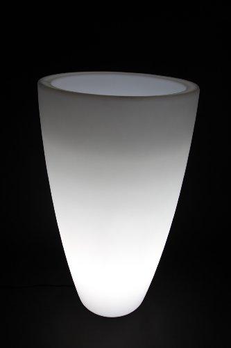 2x point-garden Blumentopf Blumenkübel Pflanzkübel beleuchtet – Designer Leuchte – Höhe 90 cm - 2