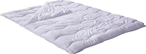 REDBEST Vier-Jahreszeiten-Bett, Steppbett, Bettdecke Textilfaser weiß Größe 155x220 cm - Feuchtigkeitsabtransport, Liegekomfort, waschbar, allergikerfreundlich, ergonomische Wellensteppung