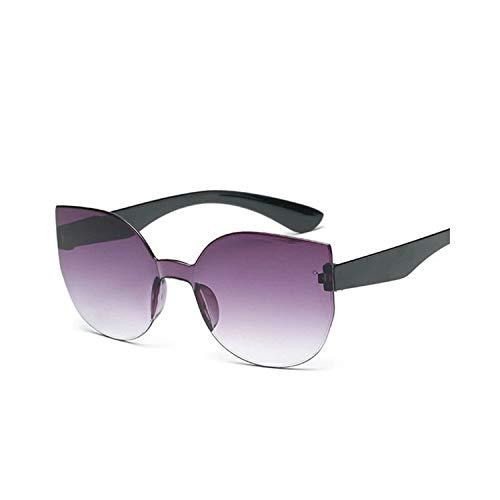 Vikimen Sportbrillen, Angeln Golfbrille,Rimless Cat Eye Sunglasses Women Gradient Mirror Lens Sun Glasses Retro Cateye Eyewear as picture Brown