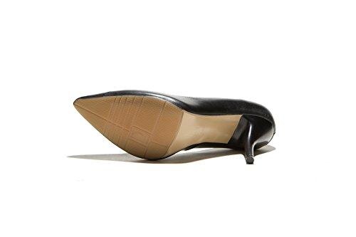 Adee Femme spikes-stilettos Chaussures Pompes en cuir Noir - noir