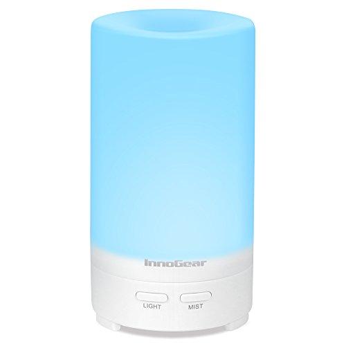 InnoGear USB Difusor de Aceite Esencial 70ml Portable Ultrasonic Aromaterapia Humidificador Refrescante de Aire con 7 Luces LED de Color Auto Shut-off para El vehículo de Casa de Viaje de Oficina de Automóviles
