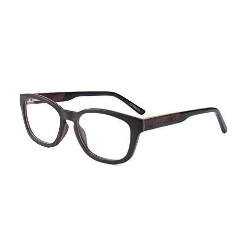 Naturjuwel Holz Brillengestell Herren schwarz Brillenfassung Brillenrahmen Optiker Holzbrille Holz...