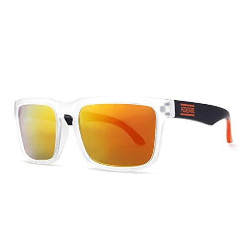 Yiph-Sunglass Sonnenbrillen Mode Unisex Clear Frame Umrandeten Stil Sport Sonnenbrille UV400 Schutz Fahren Radfahren Laufen Angeln Golf (Farbe : Gelb)