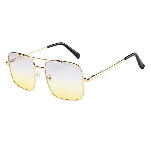 iCerber sonnenbrillen Chic Lässig Einzigartig Frauen Männer Vintage Retro Brille Unisex Fashion Oversize Rahmen Sonnenbrille Eyewear UV 400 ❀❀2019 Neu❀❀(XXLMehrfarbig)