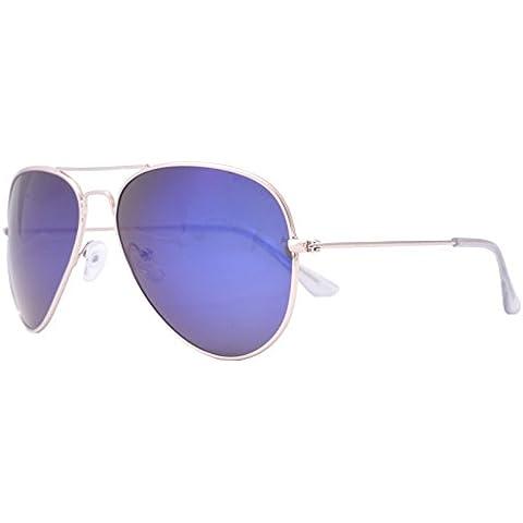 OceanGlasses - Banila aviator - gafas de sol metálicas - Montura : Dorada - Lentes : Degradado Azul (18110.3)
