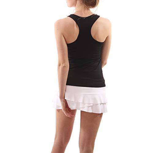 Sportkind Mädchen & Damen Tennis, Fitness, Running Tanktop mit Racerback, schwarz, Gr. XXXL