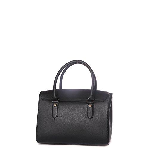 Patrizia Pepe Lock Fly Handtasche Leder 27 cm nero