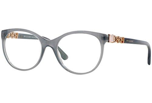 Bulgari Für Frau 4099b Transparent Grey Kunststoffgestell Brillen, 51mm
