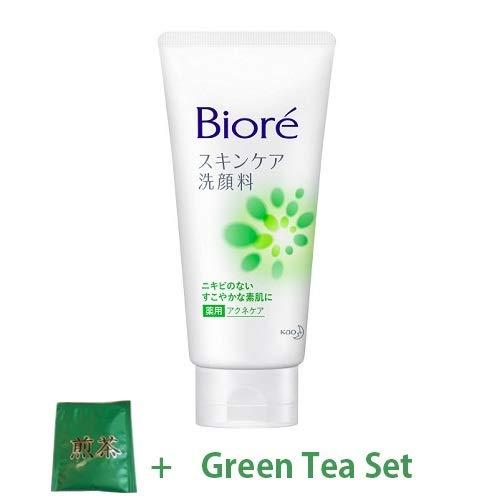Kao Biore Skin Care Face Wash 130g - Medicated Acne Care (Green Tea Set)
